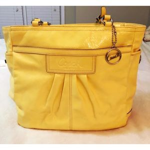 Coach canary yellow bagF 14859